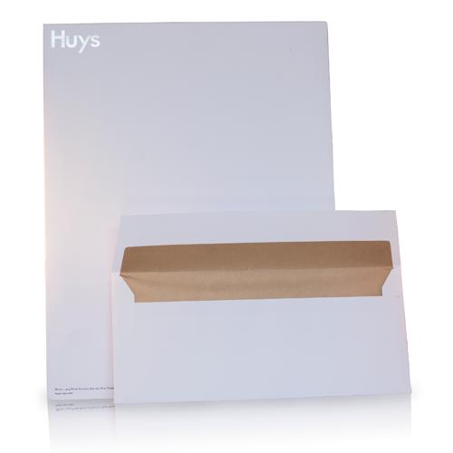 Verschillende formaten huisstijl enveloppen