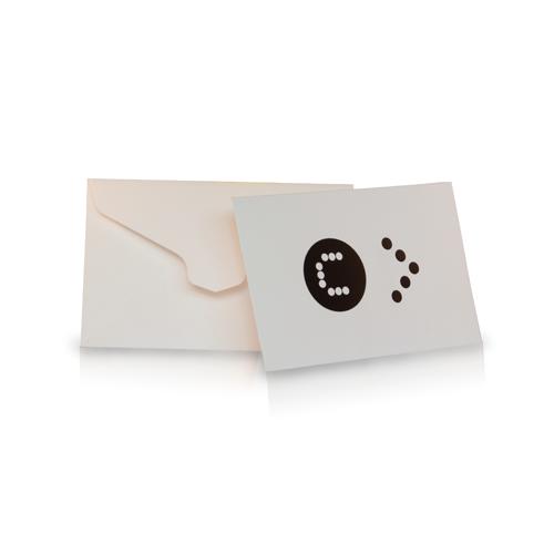 Mini formaat envelop met speciale vorm plakrand