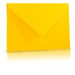 Gekleurde wenskaart envelop, kleur geel