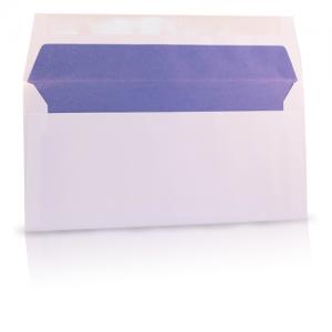 Envelop met gekleurde zijde voering paars