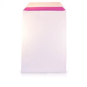 Postenvelop met gekleurde en gevoerde binnenkant roze